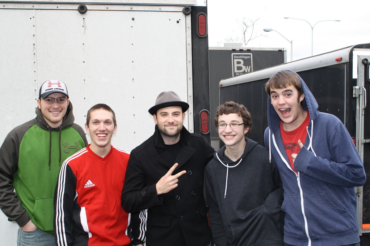 Some friends and I with Jake Luhrs after we took him out to Red Robin before the show at El Corazon in Seattle. Was a pretty great day to say the least.