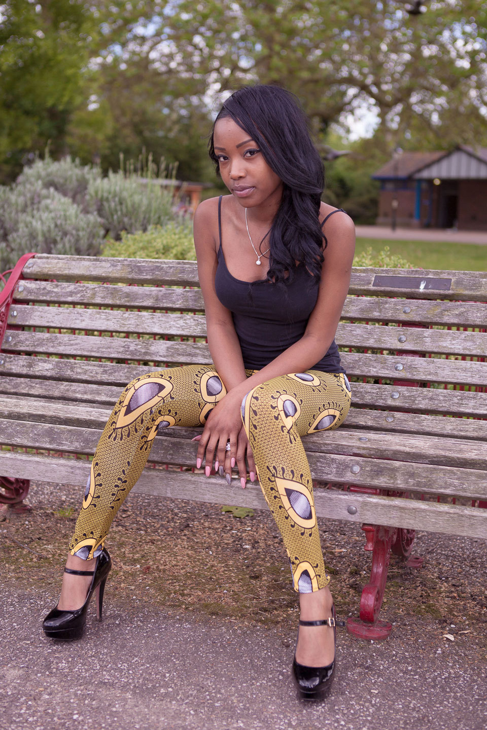 Chika Couture Teardrop Ankara Leggings Available Exclusively at www.chikacouture.com