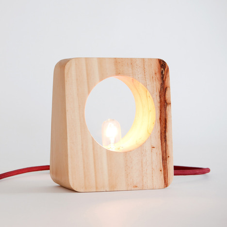 loveallthis:  Raw pine + wrapped cord + bare bulb = Lamparini Lamp by Ayllu Collective.