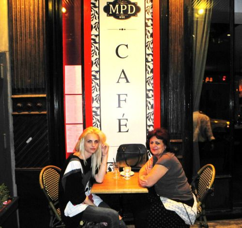 Andrej and Mama Jadranka at MPD Restaurant, New York. Photo from @MPD_Restaurant