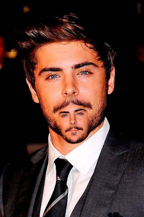 Zac Efron Moustair by Scott Higdon