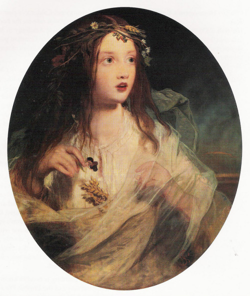 "paperwitches:  James Sant (1820-1916) - ""Ophelia""  ART in Westeros Sansa Stark"
