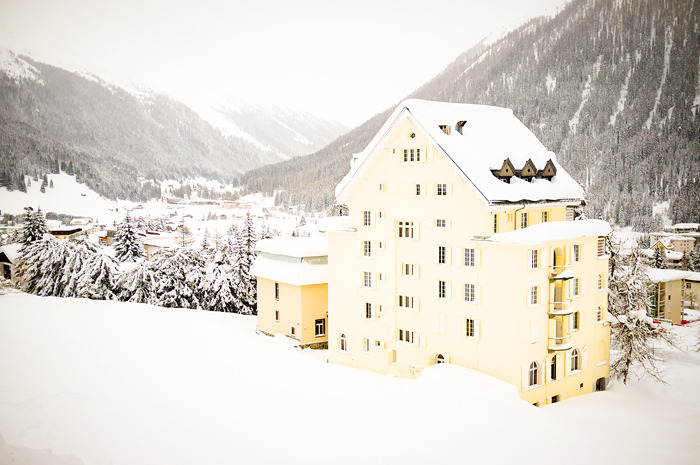 Snow in Davos, by Kris Atomic.