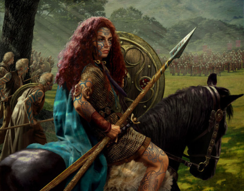 "thepiratejenny:  kkatkkrap:  darkwitch666:  Boudica,Celtic warrior queen. Boudica is a completely overlooked figure in history. She is hardly mentioned in any Roman history class, save for a brief note on the 'Boadicea Revolt', and she was nearly forgotten and lost to time until very recently. The spelling of her name is variable, from the Roman 'Boadicea' to various Celtic forms such as 'Bodika'. Her story is tragic, defiant, and brilliant. Take a few minutes to look her up, or go to your local library and pick up a book on her and the Icenii tribe. I promise you won't be disappointed.  Dude, I remember watching a documentary about her. She's a freakin' badass.  There's a statue of her in a chariot in London. Because she was awesome.   I went as her (as the ""domestic"" Queen of the Iceni, not so much the Warrior Queen) for Halloween a few years ago. When I have the time and money I'm gonna do a proper warrior queen getup of her. She was awesome. Even the Romans feared her…they may have crushed her forces in the end, but it took over 20,000 legionnaires and almost a decade to destroy the rebellion."