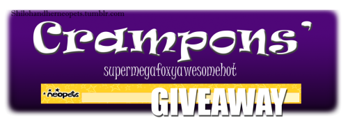 shilohandherneopets:  This is my first giveaway :D It starts now and ends at midnight on July 30th. Rules: Likes count Reblog only once a day You do not have to follow me Yea, that's basically it Prizes: First Place can choose one thing with a green border, OR 1Million Neopoints, OR a full lab map, OR 2 random nerkmids of my choosing Second Placecan choose one thing with a blue border, OR 500k, OR a random nerkmid of my choosing Third Place can choose one thing with a pink border…or 100k if you really want