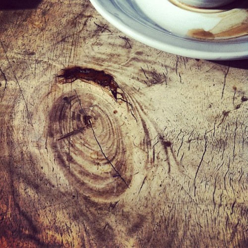 Tuesday brunch w the girls. #coffee #wood (Taken with Instagram)