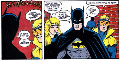 ajacquelineofalltrades:  cooltrainershells:  …..Batman. [JLI #7]  Always on the job. ALWAYS.