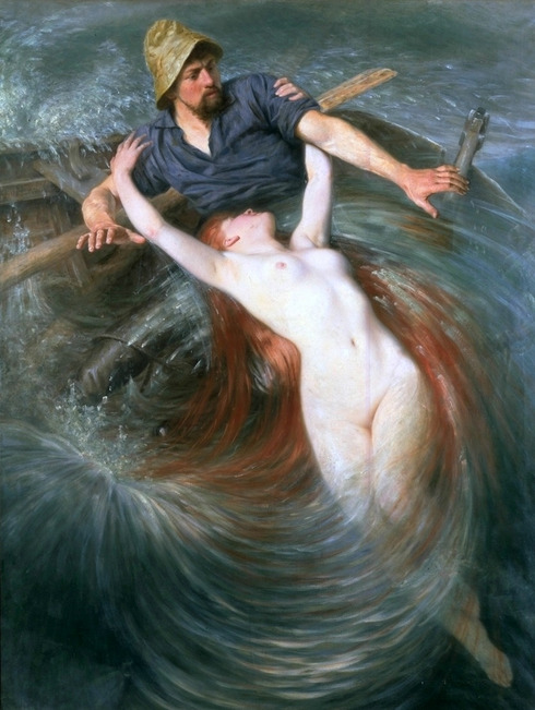 welovepaintings: Knut Ekwall, Fisherman and the Siren