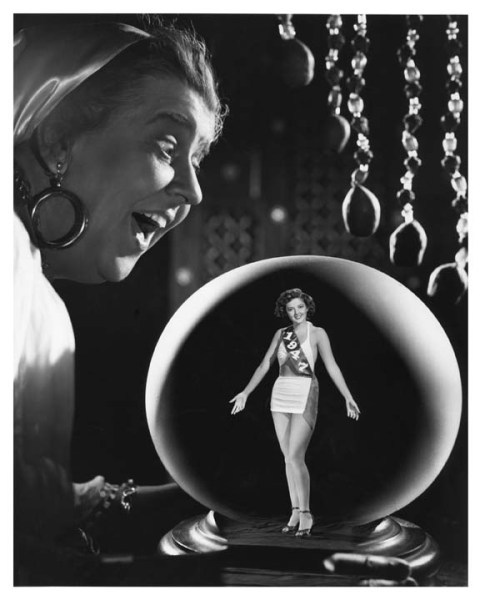 mothgirlwings:  Martha Vickers is caught in a fortune teller's crystal ball - 1947