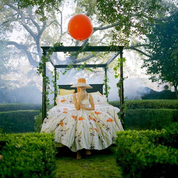 ysvoice:  | ♕ |  Red balloon in the garden  | by © Rodney Smith