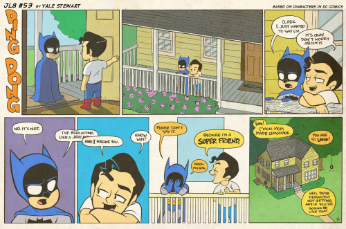 jl8comic:  JL8 #53 by Yale Stewart Based on characters in DC Comics. Creative content © Yale Stewart. Like the Facebook page here!  You guys should follow this. It's the most adorable thing ever.