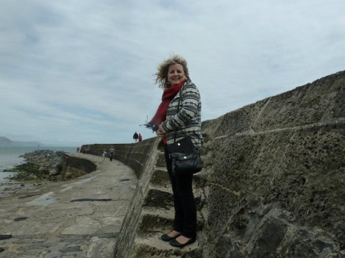 "notkissingyougoodbye:  AND walking the stone steps of The Cobb at Lyme Regis!  You know… From Jane Austen's Persuasion?! Yeah course you do!!  When I asked Brits for tips about visiting Lyme, they would be like, ""Lyme?…do you mean Lyme Regis?"" And I said NO I MEAN LYME BECAUSE JANE AUSTEN AND I DON'T CARE IF IT WAS RENAMED IN THE PAST 200 YEARS  me after practically crawling up the granny's teeth stairs but at least it didn't end like this"