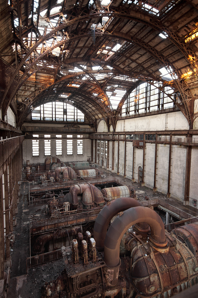 cardboardantlers:  Abandoned Power Plant (by stevenbley)