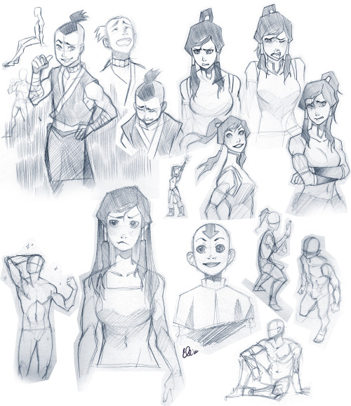 kinies:  riotofroses:  Avatar sketching!Scanned my Sokka sketches for better quality & added some figure gesture drawings. EDIT: Nickelodeon, I have not forgotten about you- PLEASE HIRE ME!  gorgeous as always dear ;; <33