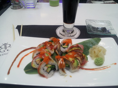 Sushi from Baluga Bar, Bermuda