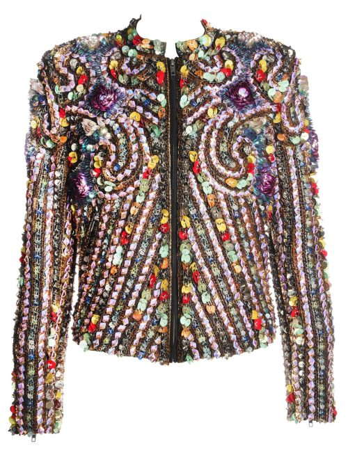 What Would Osha Wear? seeyouintheacidbath:  James Long encrusted jacket