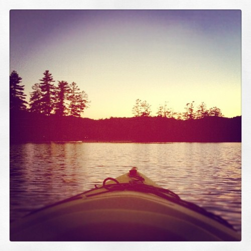 Kayaking at dusk (Taken with Instagram)