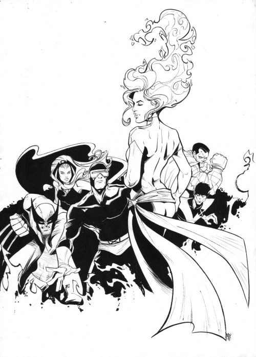 John Byrne X Men commission