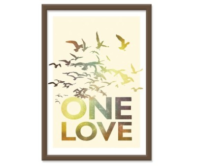 """One Love"" Print by theinksociety"