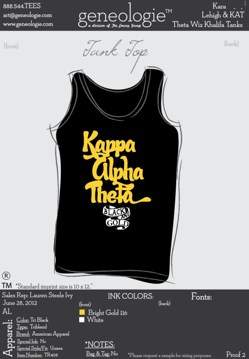 Theta Wiz Khalifa Tanks…black and gold