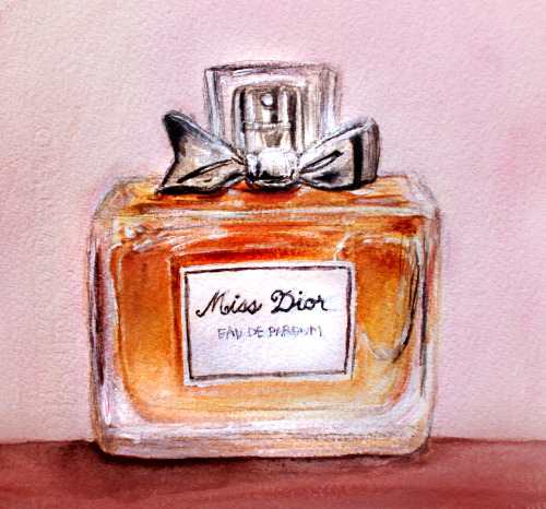"""Miss Dior"" Watercolor Ask about prints/commissions :)"