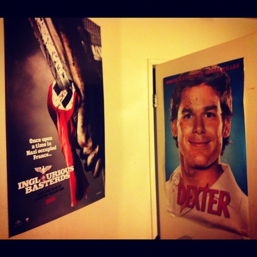 :) #posters #dexter #ingloriousbastards  (Taken with Instagram)