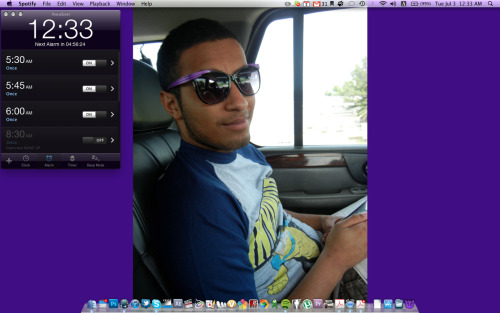 Im diggin my new background.  He is just lovely. I loved it when he wore my glasses.  Cant wait to see him again- in person, not on my computer screen.
