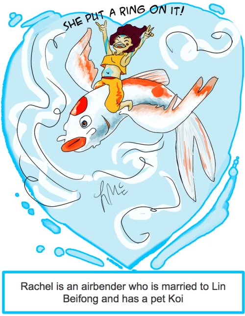 Let's be honest, there's no such thing as just a 'Koi.' My role in Legend of Korra!