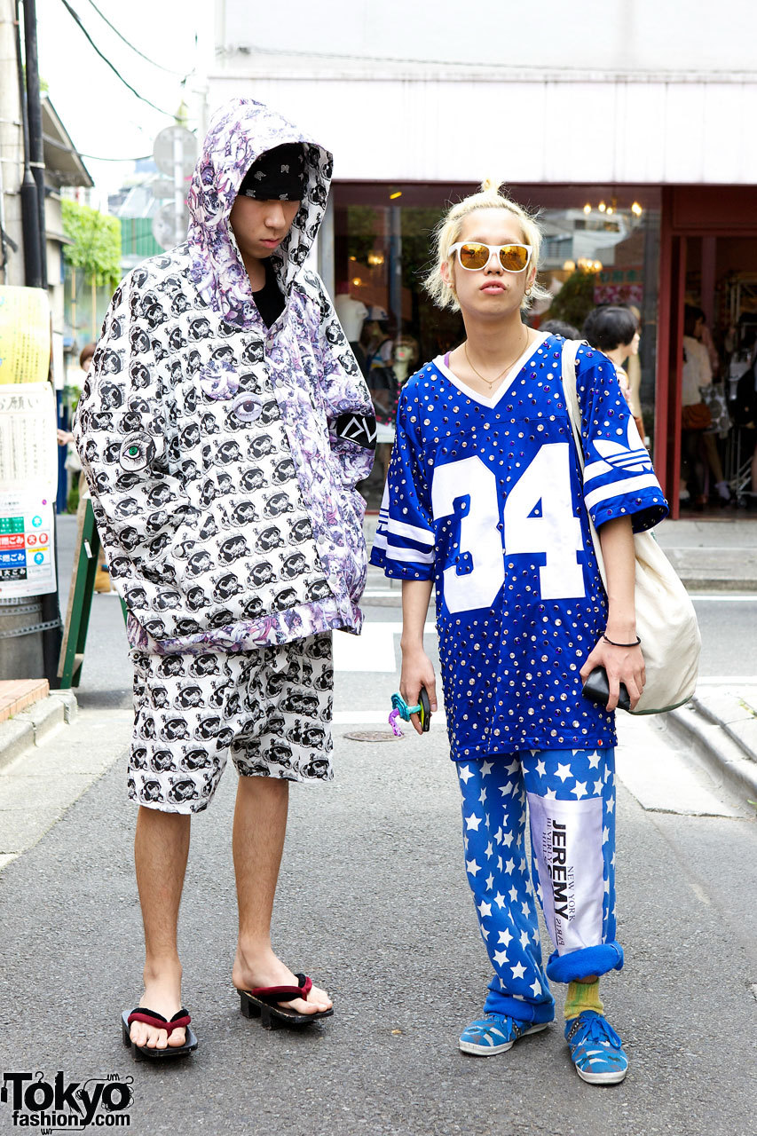 18-year-old Harajuku guys - one on the left wearing Hiro, one on the right in Jeremy Scott.