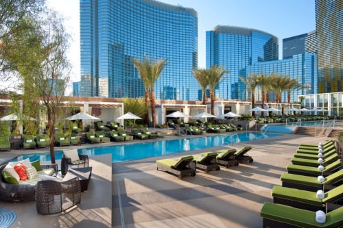 The most relaxing hotel oasis (read: non-gaming, non-smoking) on the Las Vegas Strip: The Mandarin Oriental. I was just there last week checking out the spa {as well as 7 others}, and holding tree pose in a morning yoga class. A testament to Vegas' quieter side. See my full round-up of Spas on The Strip on TripStyler.com.