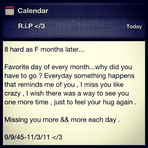 #rip #death #anniversary  #sad #miss (Taken with Instagram)