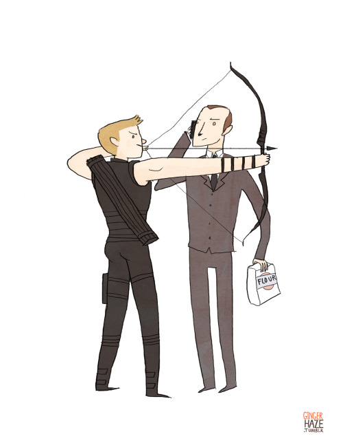 gingerhaze:  A commission for steerage and the last of the Clint/Coulson commissions! I haven't done very well about posting these lately, but I've finally reached the bottom of my list so I'll post some of them up over the next few days.