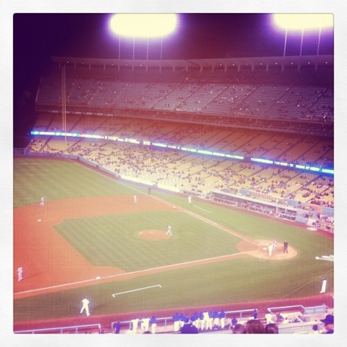 THIS DODGERS PIC IS BROUGHT TO YOU BY JOHNSONVILLE BRATS! (Taken with Instagram)