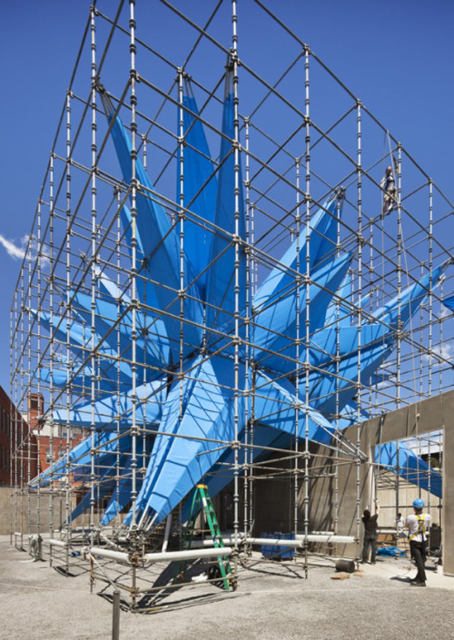 "HKWN: Wendy - Winner of MoMA PS1's Young Architects Program 2012 ""nylon fabric treated with titania nanoparticle spray – capable of neutralising airborne pollutants. It thereby aims to clean the air to the equivalent of taking 260 cars of the road"""