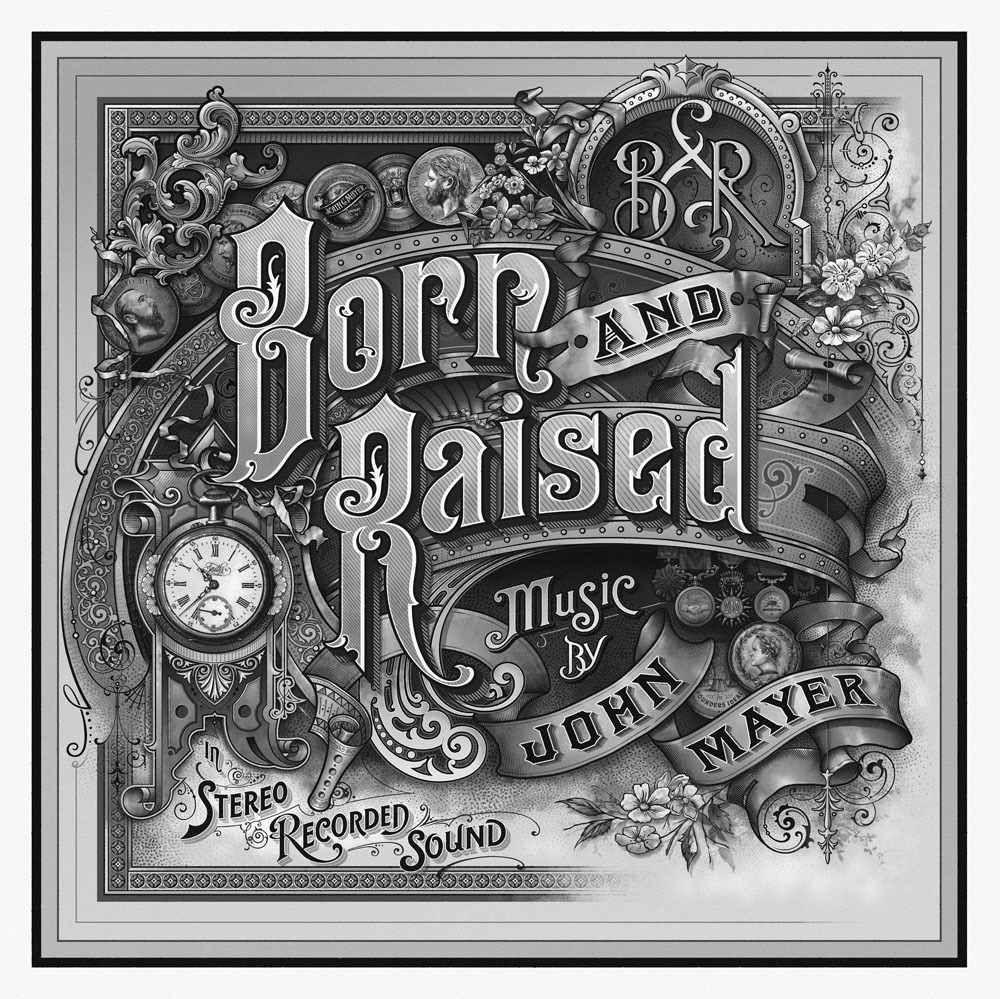 (via Born & Raised Album Cover – John Mayer « David Smith – Traditional Ornamental Glass Artist)