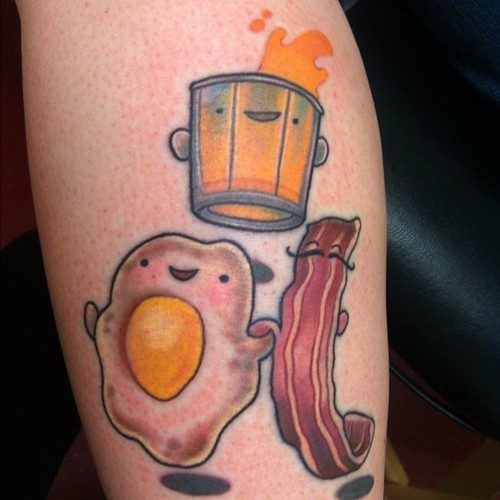 fuckyeahtattoos:  MMMM Breakfast tattooed by Noelle LaMonica @ Divine Machine Tattoo in Buffalo NY.