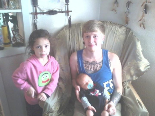 My niece and my boy (:
