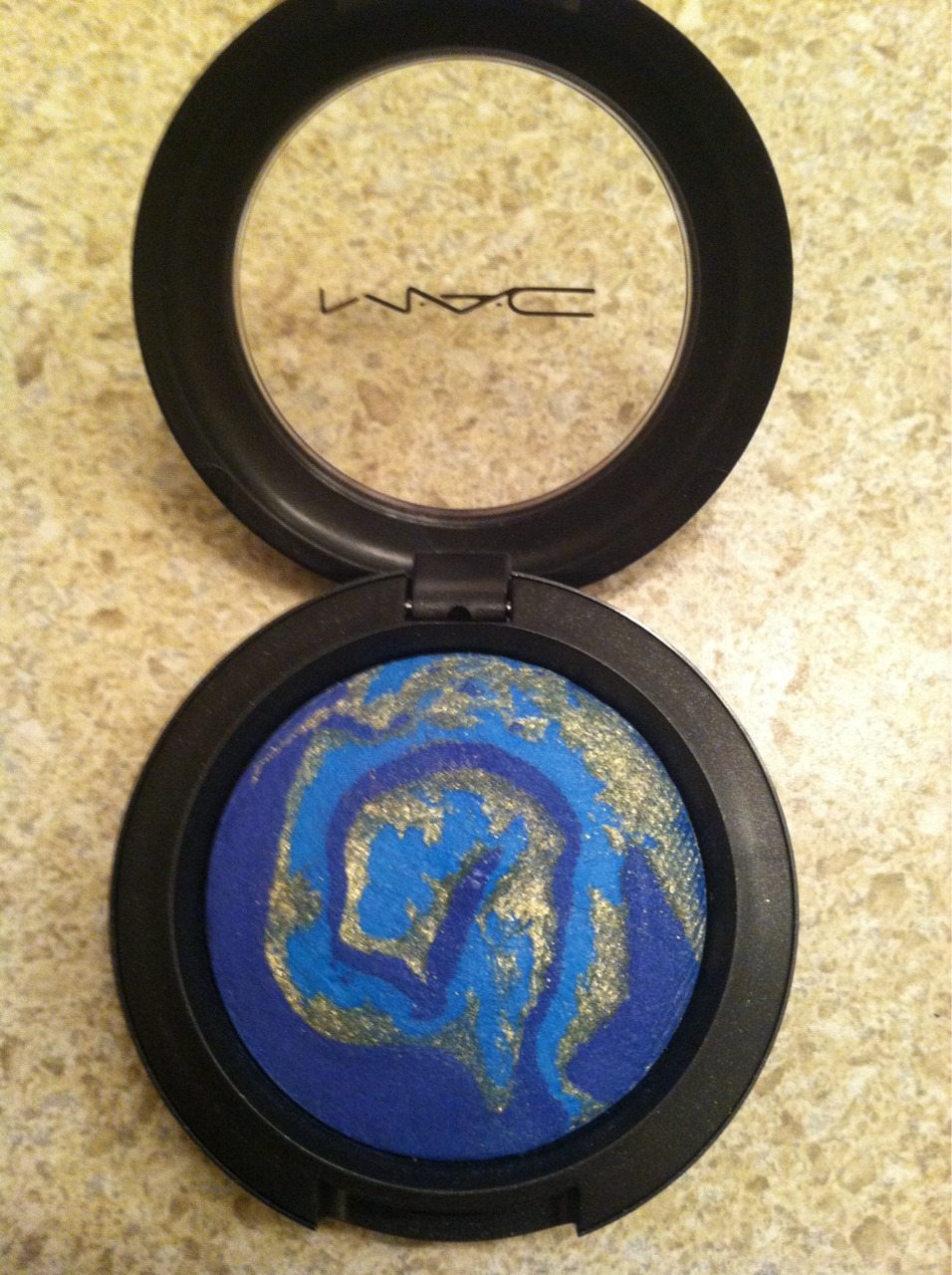 MAC's Sky Mineralize Eyeshadow.