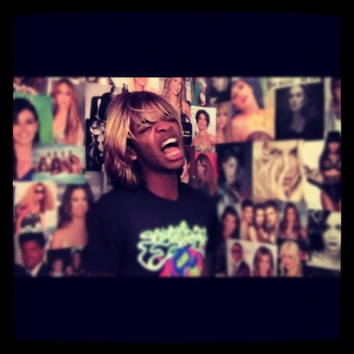 Kingsleyy!!!!! He was singing Call Me Maybe:]  #youtube #kingsley (Taken with Instagram)