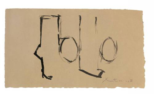 Robert Motherwell…now I know there is a lot of talk on him and his work but  absolutely love it, this of course is very minimal, but it has great conceptual quality to it..in my opinion Motherwell really set a new standard of abstraction to push forward ideas set by the Abstract Expressionists …thoughts ? opinions ?