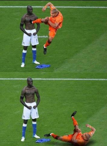 Balotelli the Brick Wall