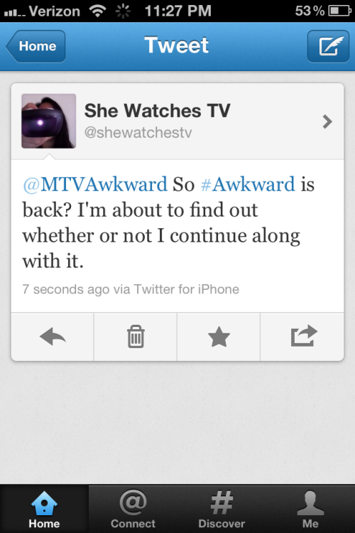 Follow @SheWatchesTV