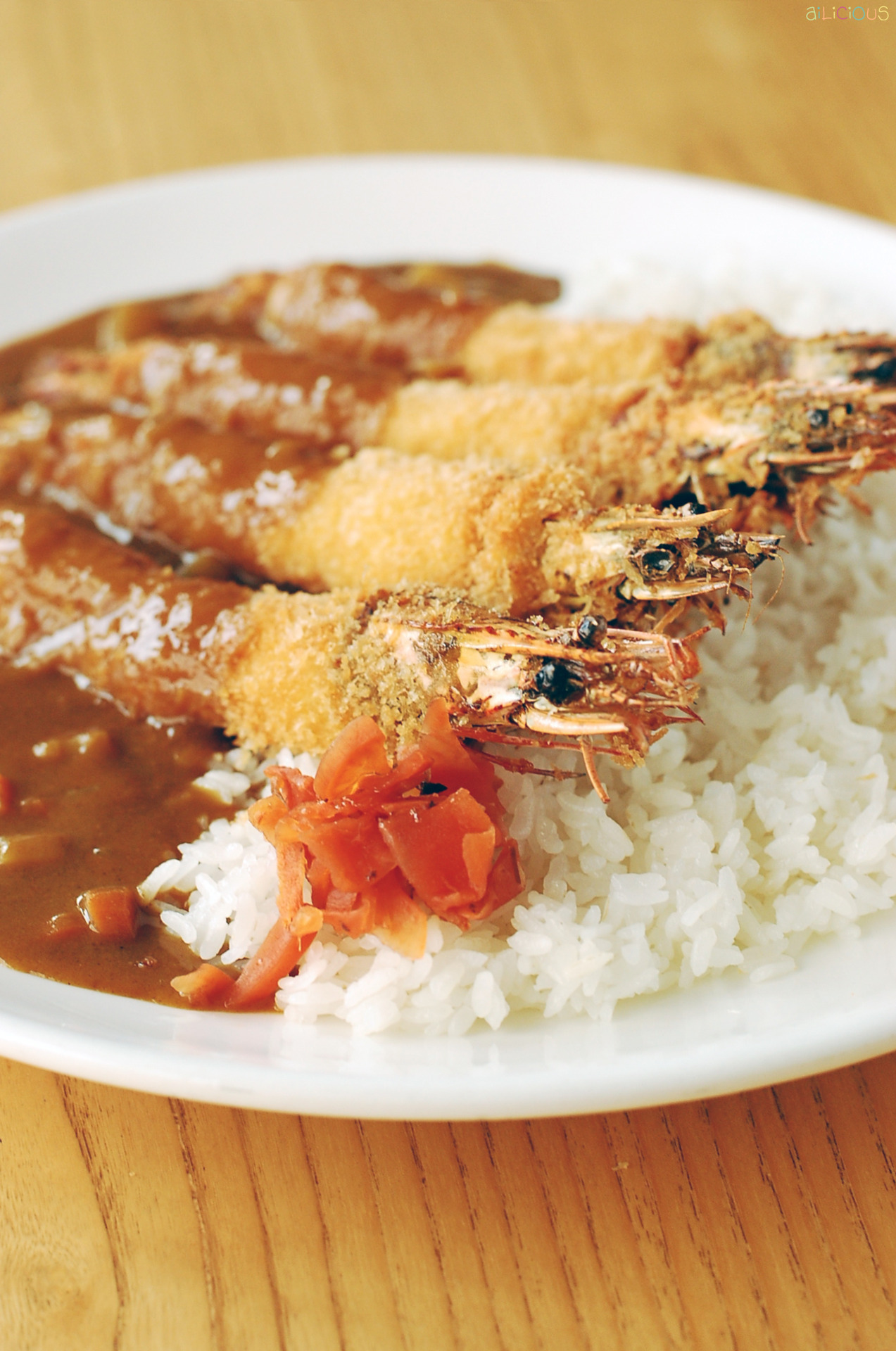 Ebi Furai Curry Rice. Photo for En Dining.