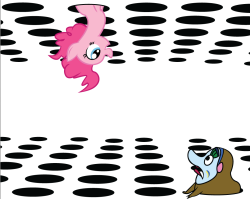 tateshaw:  Sea of Pinkie by ~AlisonWonderland1951  for all the bronies and beatles fan. I wonder if Equestria is in one of those four thousand holes