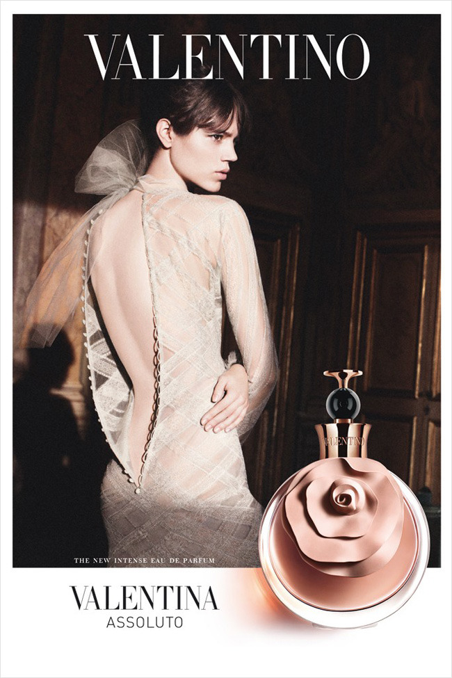 Freja Beha Erichsen for Valentina Assoluto Fragrance by Valentino.