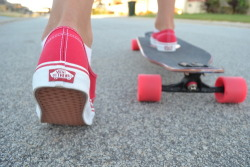 Vans and longboarding. Two uh the greats!