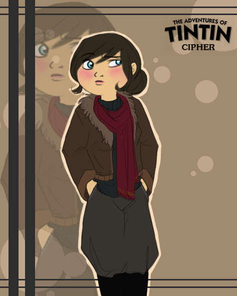 This is Cipher !! <3 (In chibi style) She is TinTIn and Heather's counsin !!! WOW!!!! I like it ^^