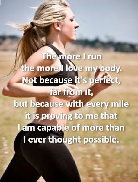 fitness-pro-live:  i love running :)  Truth… In eight grade I passed out trying to run a 12 minute mile for fitness testing. Now I can easily run an 8 minute mile, that is crazy!!!