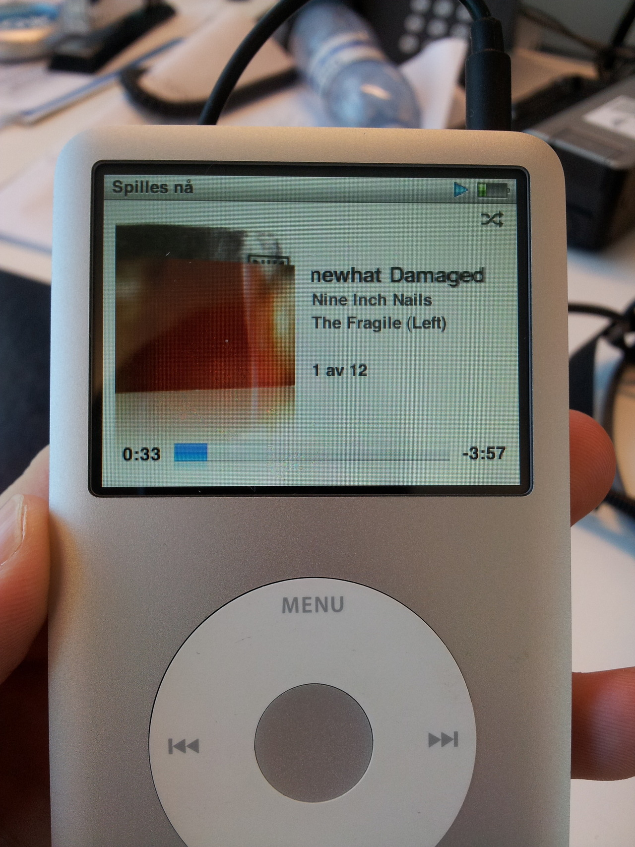 Today's soundtrack: Nine Inch Nails - The Fragile.