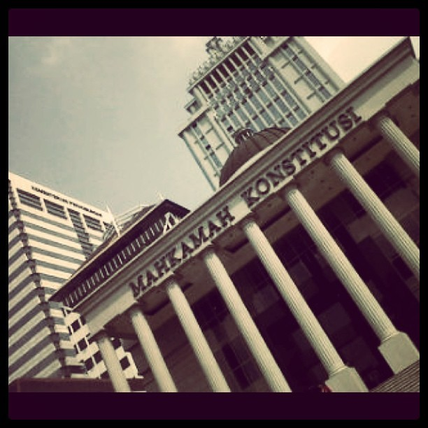 You name it! #building of #justicial, #Mahkamah #Konstitusi #jakarta. #instagram #iphonesia #igers (Taken with Instagram)